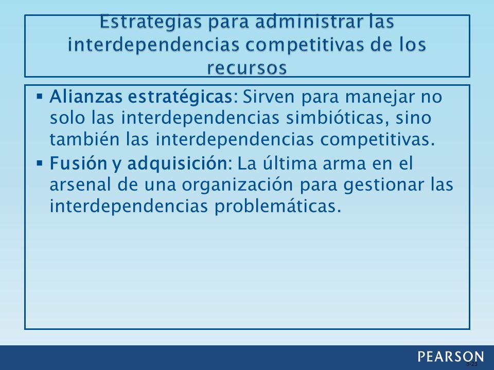 Estrategias para administrar las interdependencias competitivas de los recursos