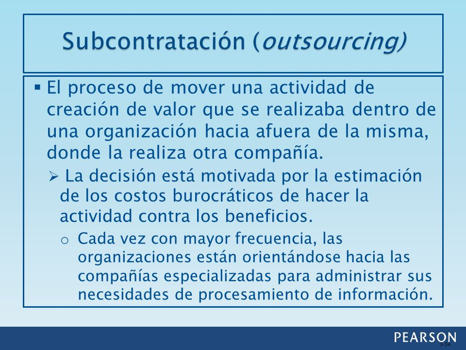Subcontratación (outsourcing)
