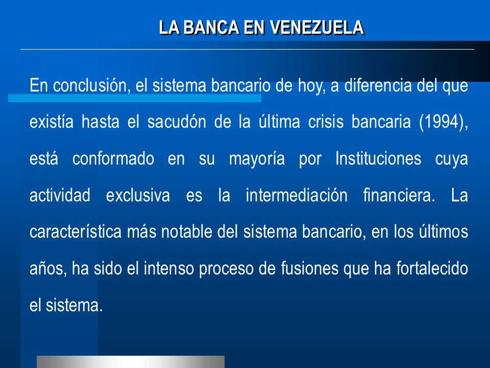 LA BANCA EN VENEZUELA