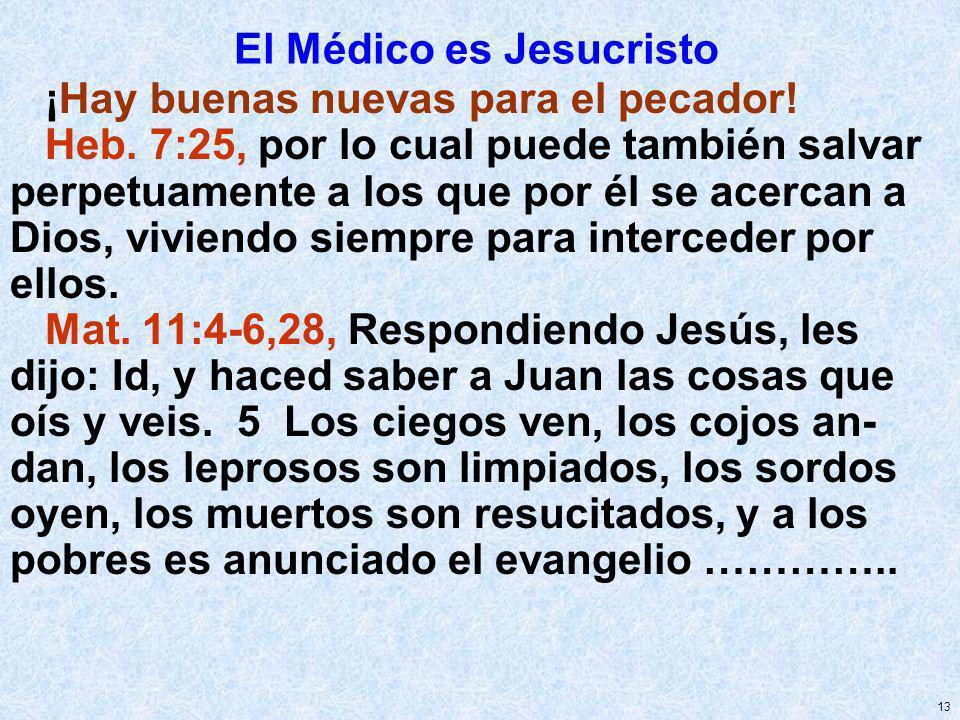 El Médico es Jesucristo
