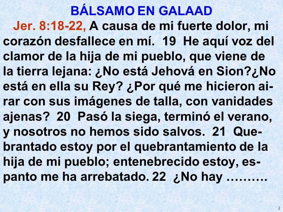 BÁLSAMO EN GALAAD