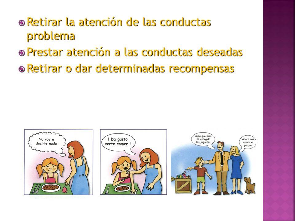 Retirar la atención de las conductas problema