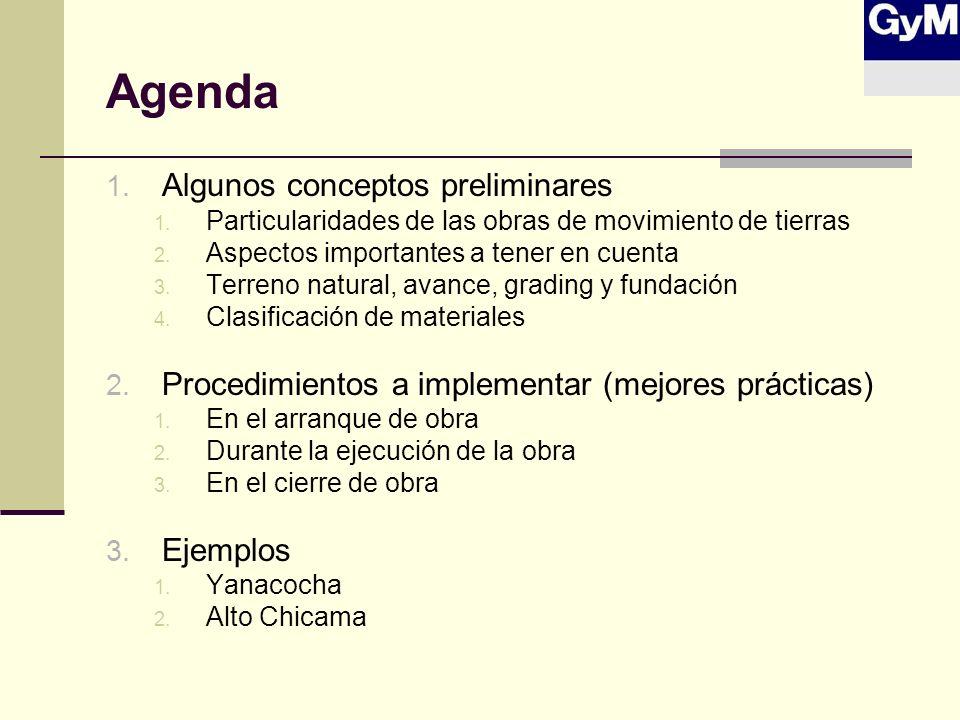 Agenda Algunos conceptos preliminares
