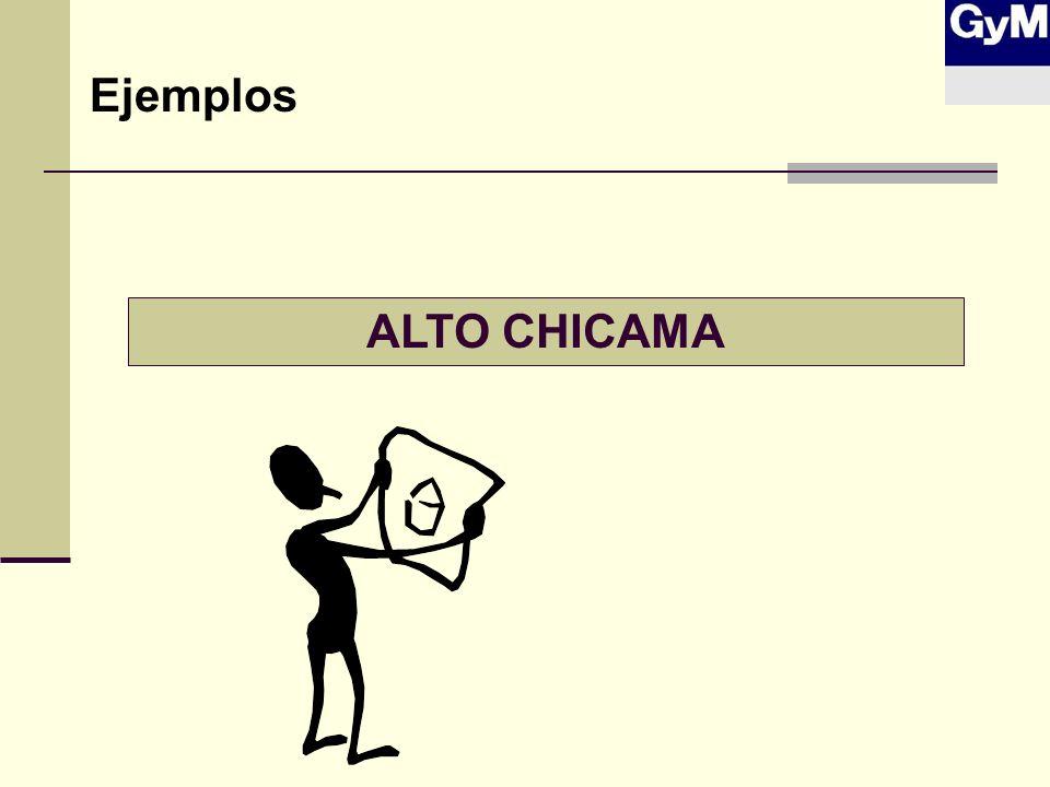 Ejemplos ALTO CHICAMA