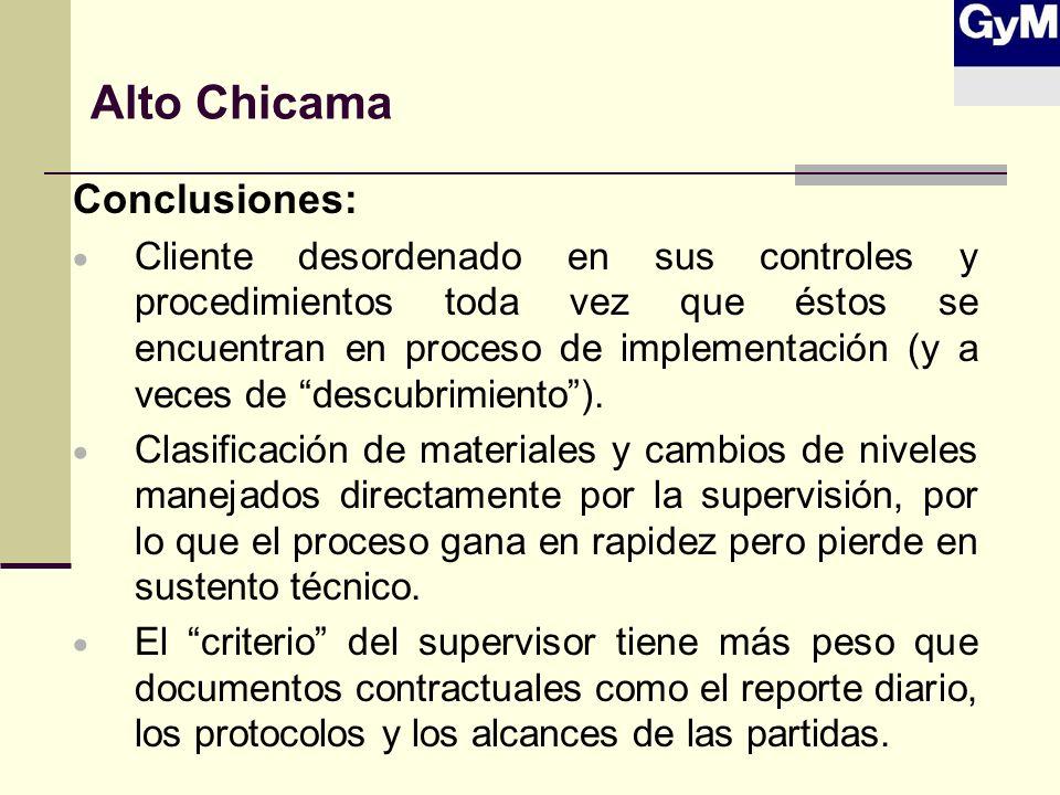 Alto Chicama Conclusiones: