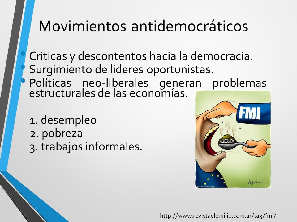 Movimientos antidemocráticos