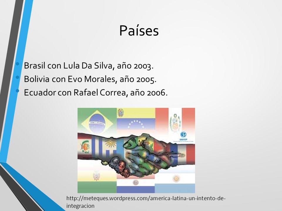 Países Brasil con Lula Da Silva, año 2003.