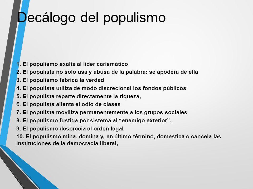 Decálogo del populismo
