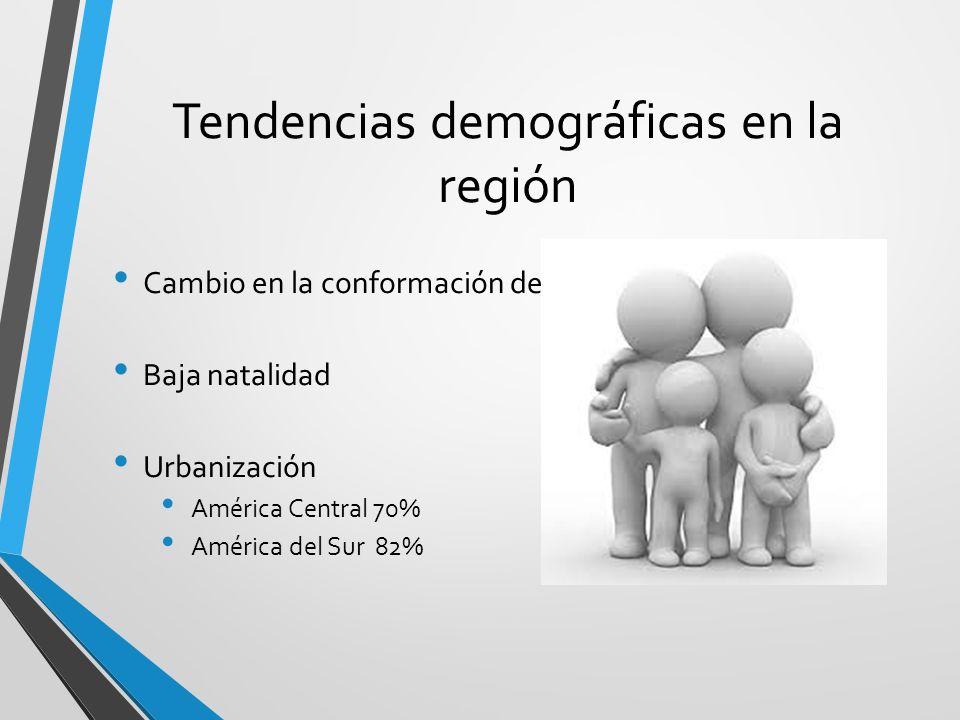 Tendencias demográficas en la región