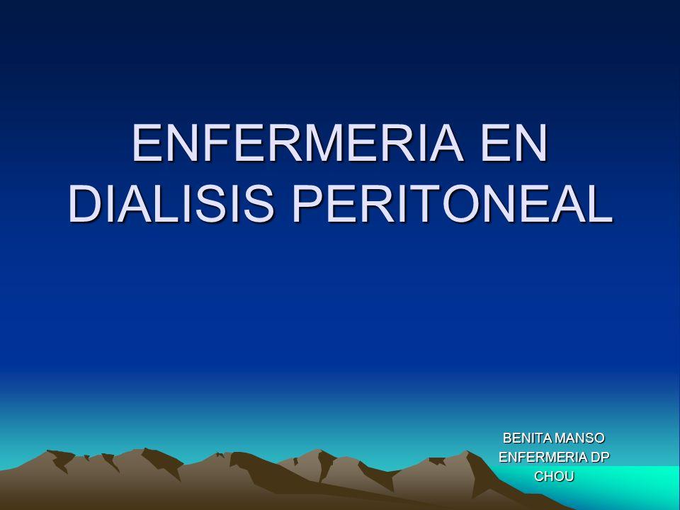 ENFERMERIA EN DIALISIS PERITONEAL