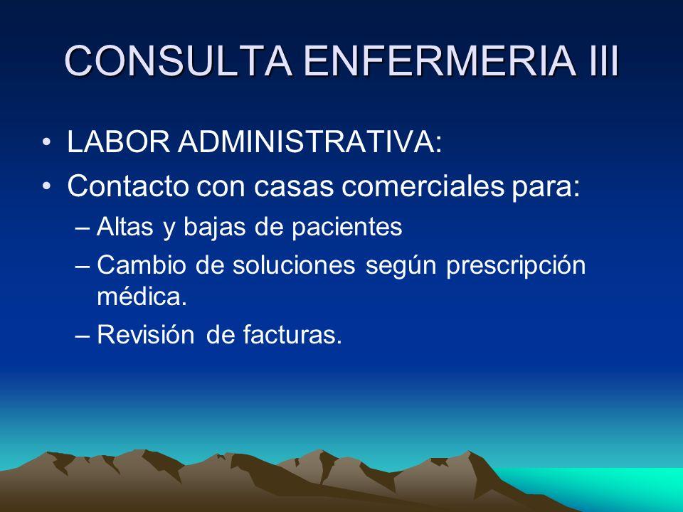 CONSULTA ENFERMERIA III