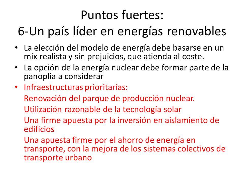 Puntos fuertes: 6-Un país líder en energías renovables
