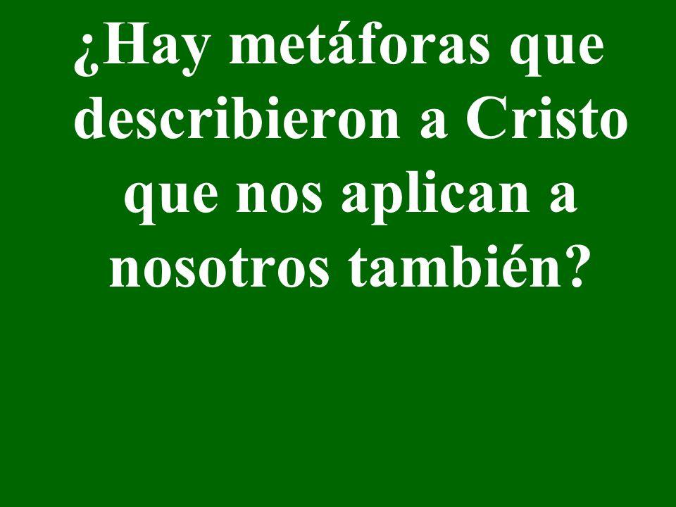 ¿Hay metáforas que describieron a Cristo que nos aplican a nosotros también