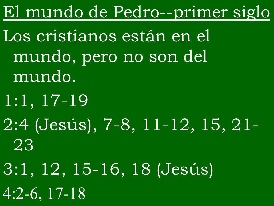 El mundo de Pedro--primer siglo