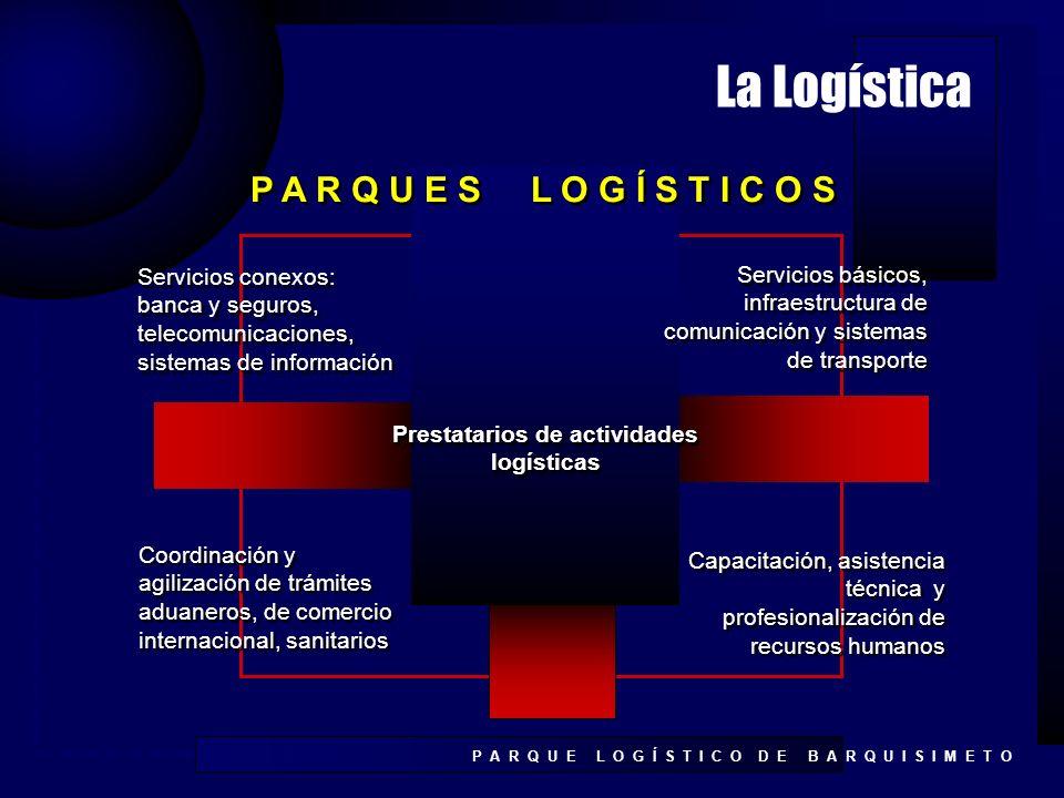 Prestatarios de actividades logísticas