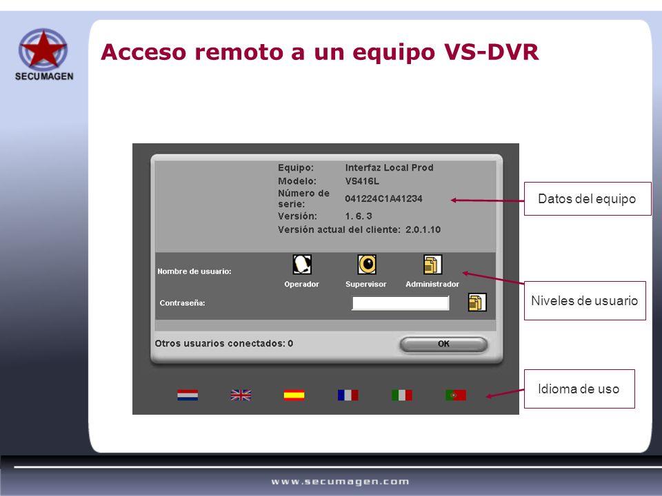 Acceso remoto a un equipo VS-DVR