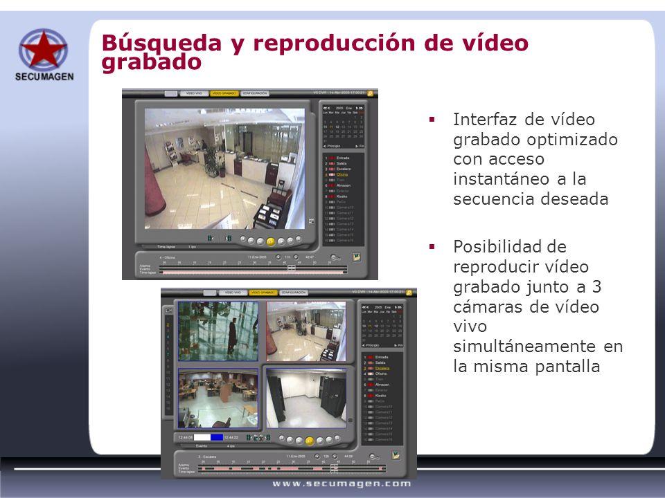 Búsqueda y reproducción de vídeo grabado