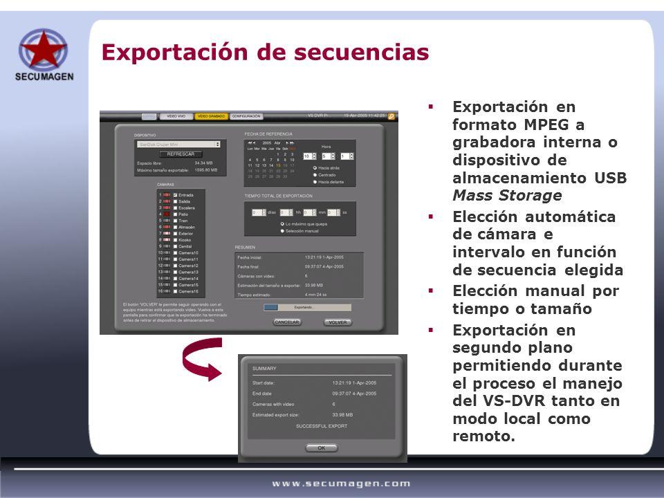 Exportación de secuencias