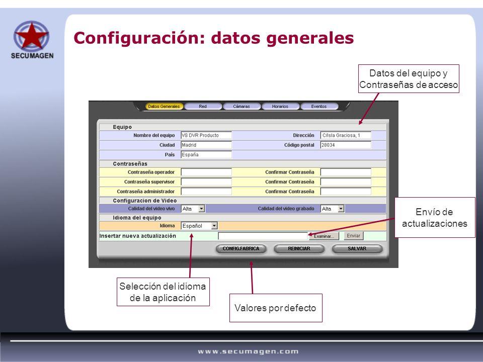 Configuración: datos generales