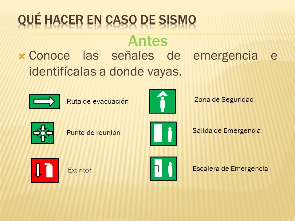 Qué hacer en caso de sismo