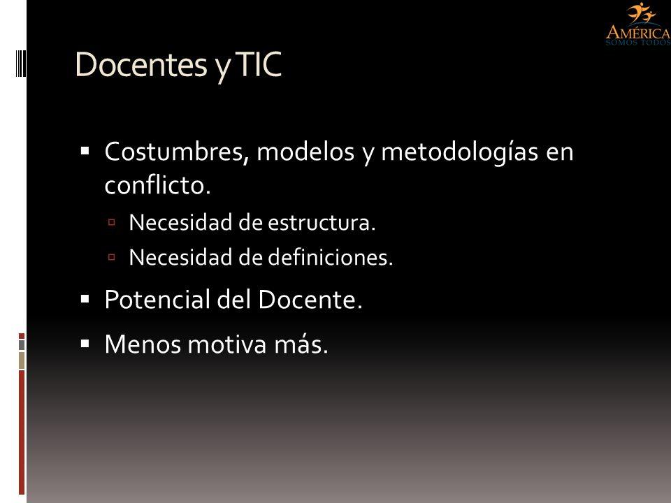 Docentes y TIC Costumbres, modelos y metodologías en conflicto.