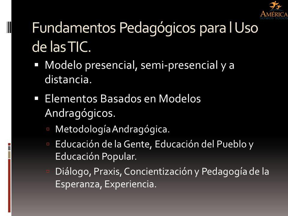 Fundamentos Pedagógicos para l Uso de las TIC.
