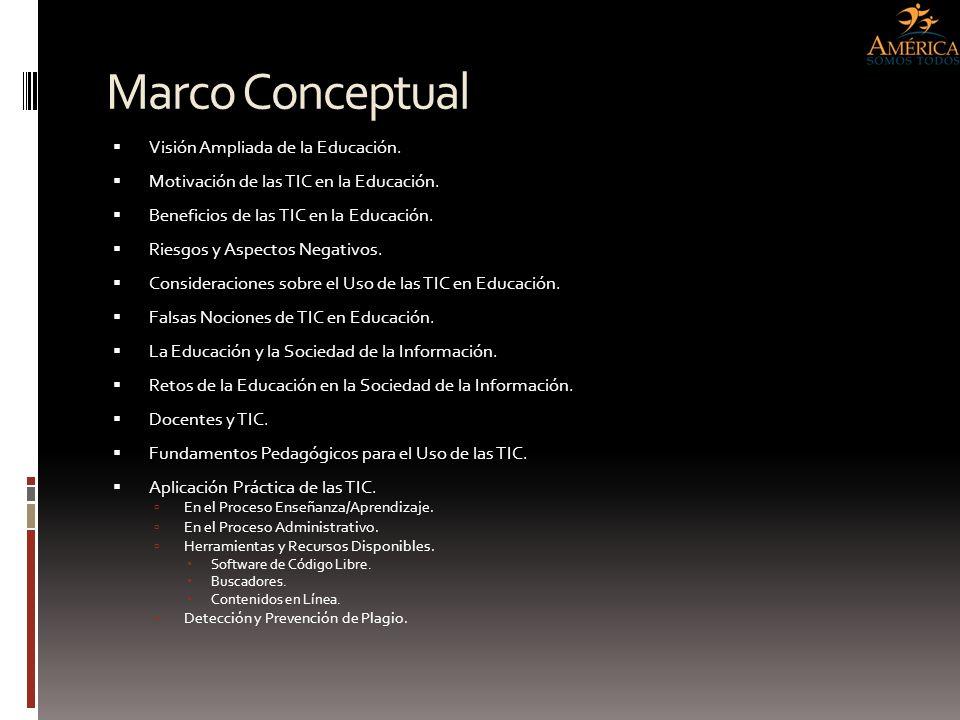 Marco Conceptual Visión Ampliada de la Educación.