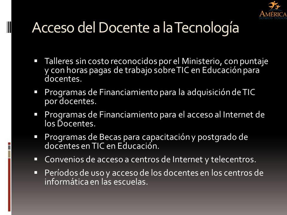 Acceso del Docente a la Tecnología