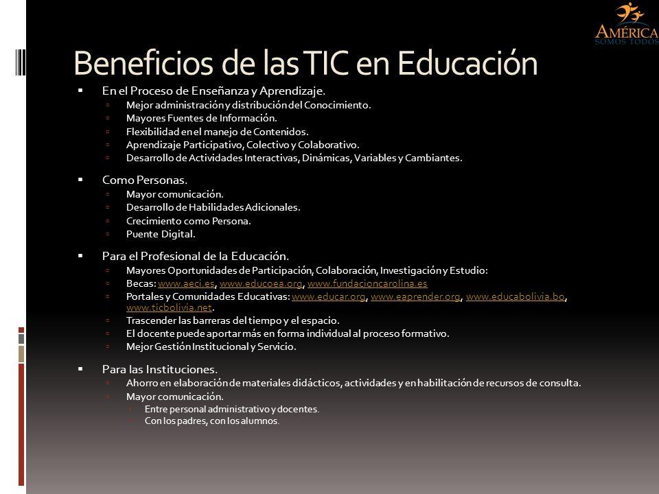 Beneficios de las TIC en Educación