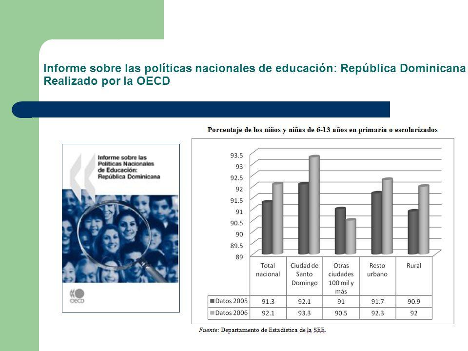 Informe sobre las políticas nacionales de educación: República Dominicana Realizado por la OECD