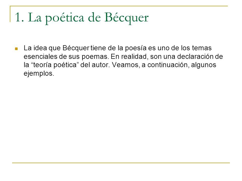 1. La poética de Bécquer