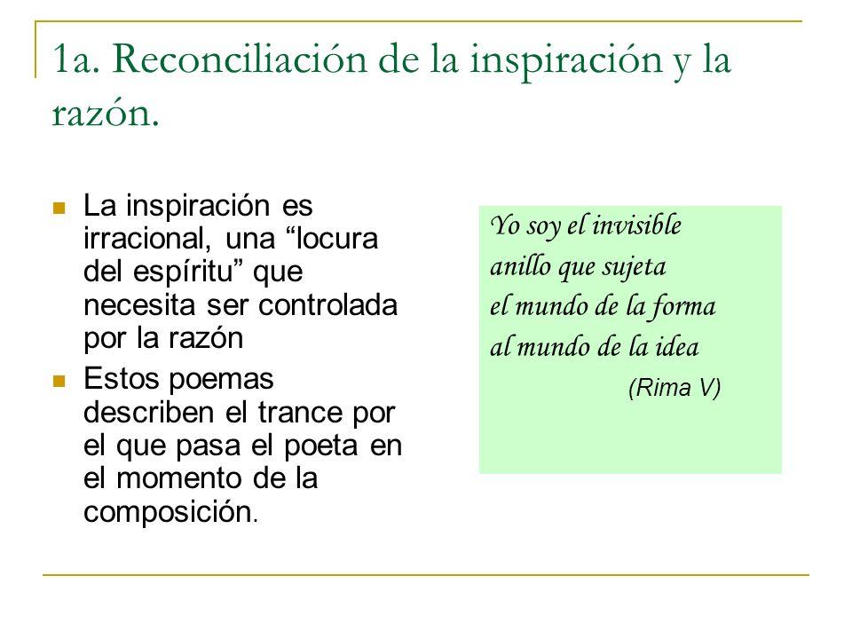 1a. Reconciliación de la inspiración y la razón.