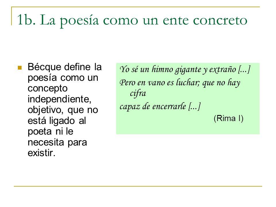 1b. La poesía como un ente concreto