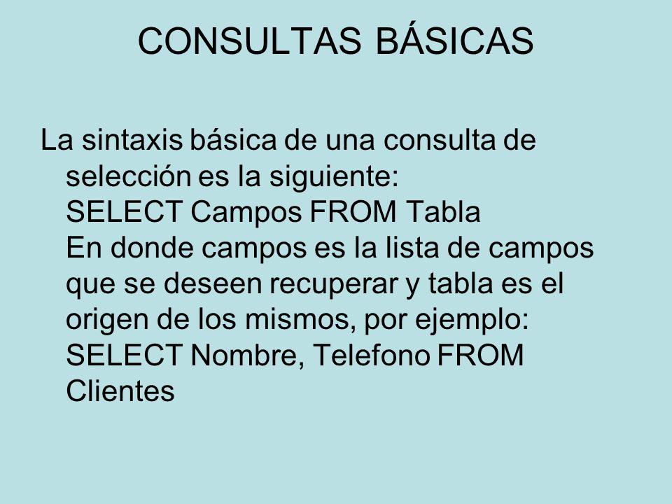 CONSULTAS BÁSICAS