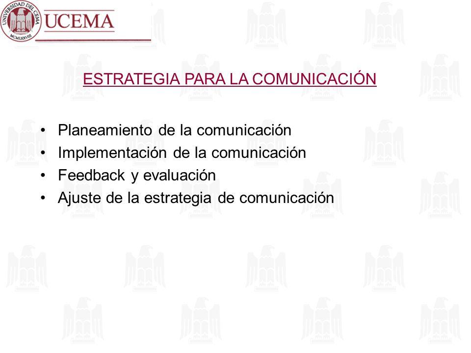 ESTRATEGIA PARA LA COMUNICACIÓN