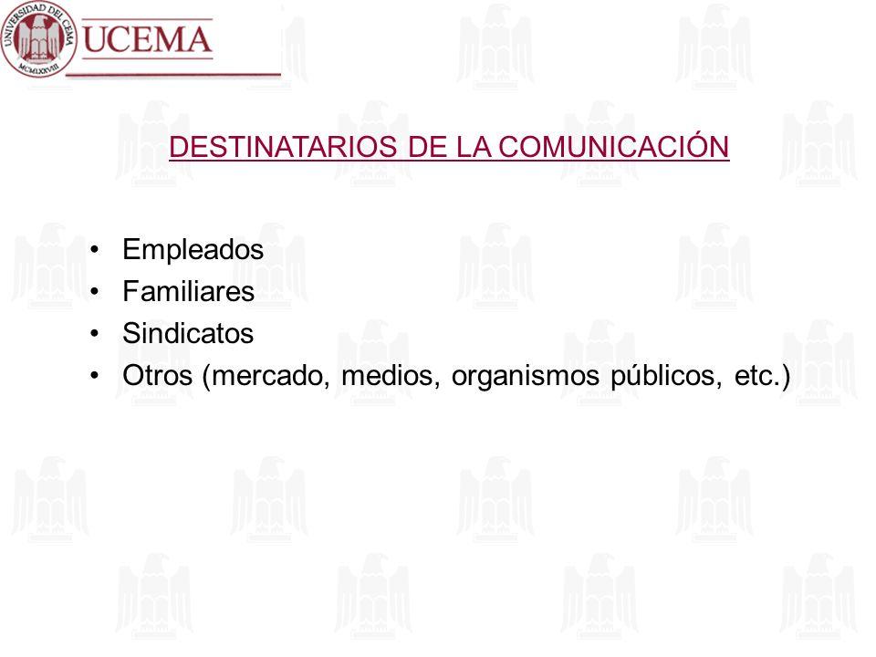DESTINATARIOS DE LA COMUNICACIÓN