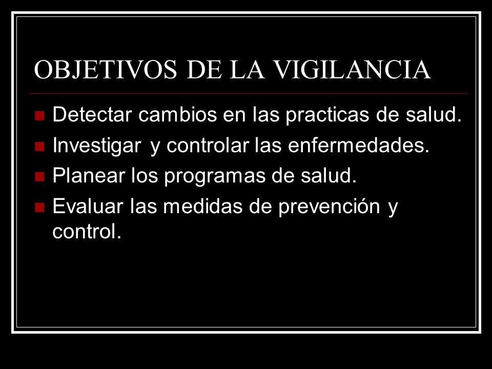 OBJETIVOS DE LA VIGILANCIA