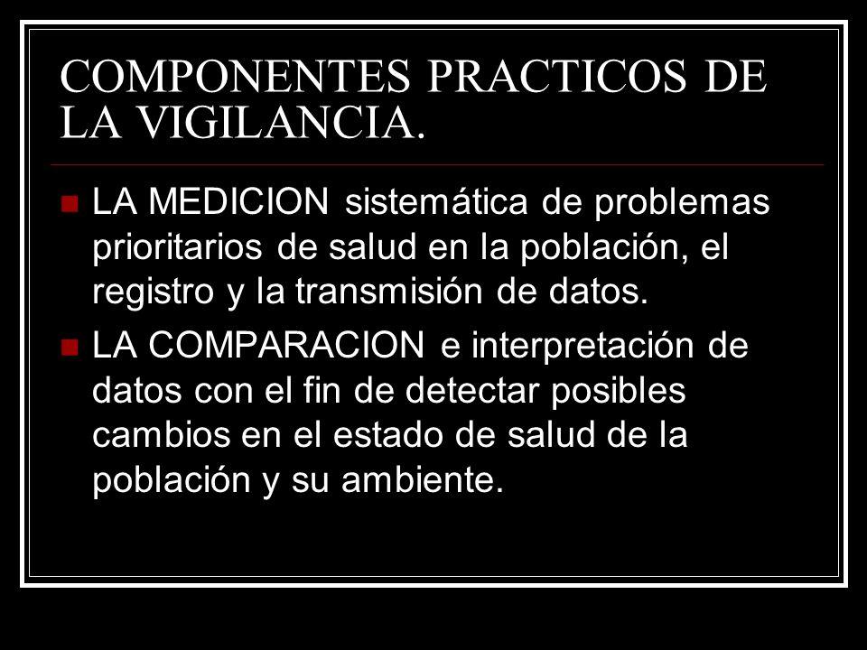 COMPONENTES PRACTICOS DE LA VIGILANCIA.