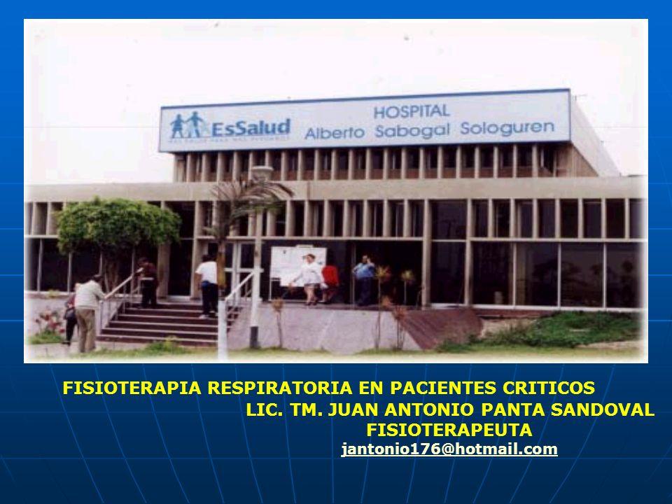 FISIOTERAPIA RESPIRATORIA EN PACIENTES CRITICOS