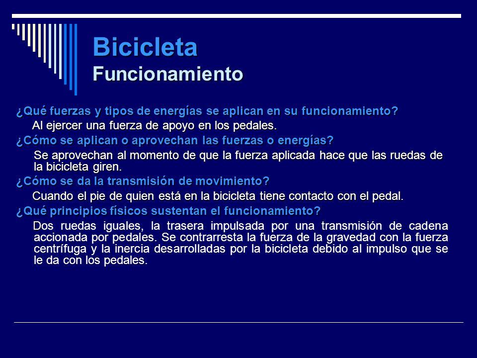 Bicicleta Funcionamiento