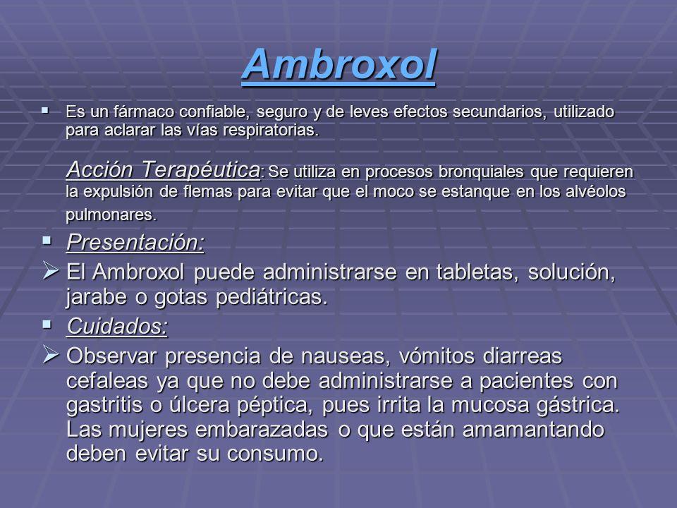 Ambroxol Presentación: