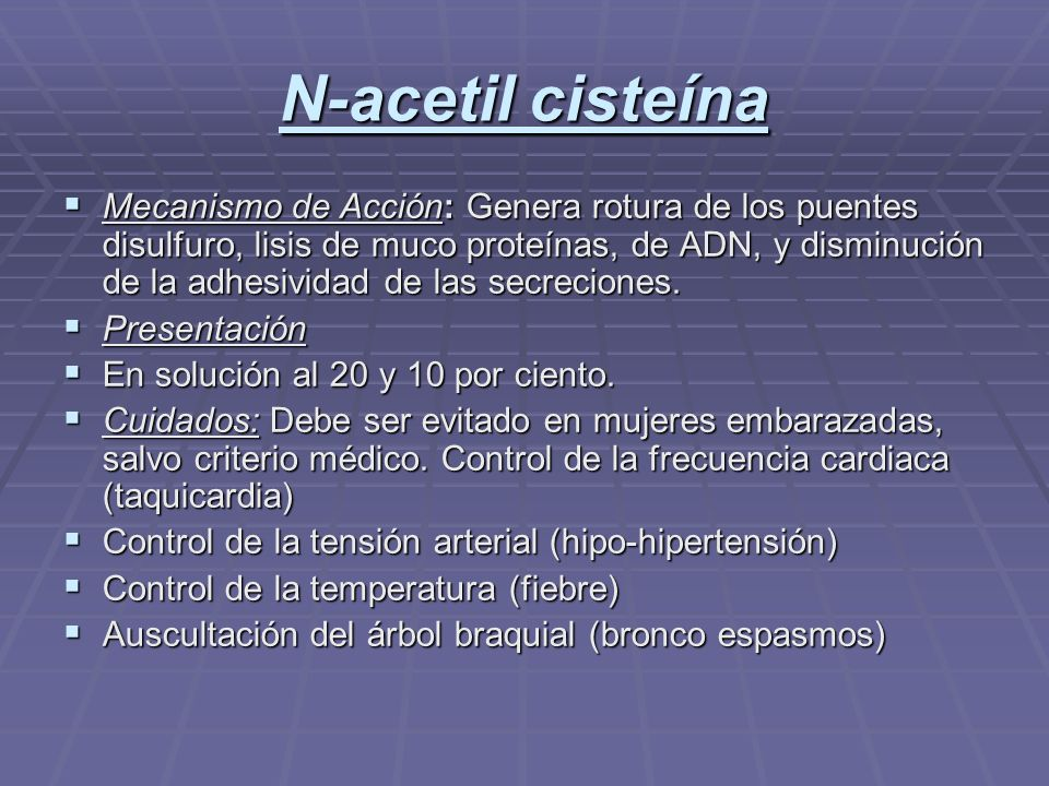 N-acetil cisteína