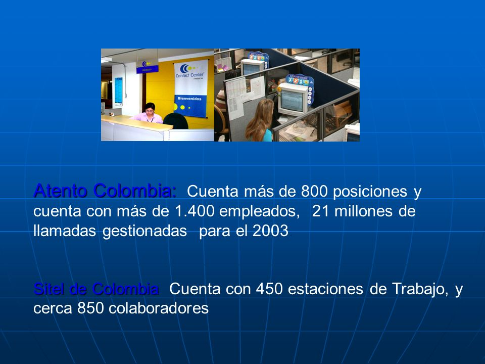Atento Colombia: Cuenta más de 800 posiciones y cuenta con más de 1
