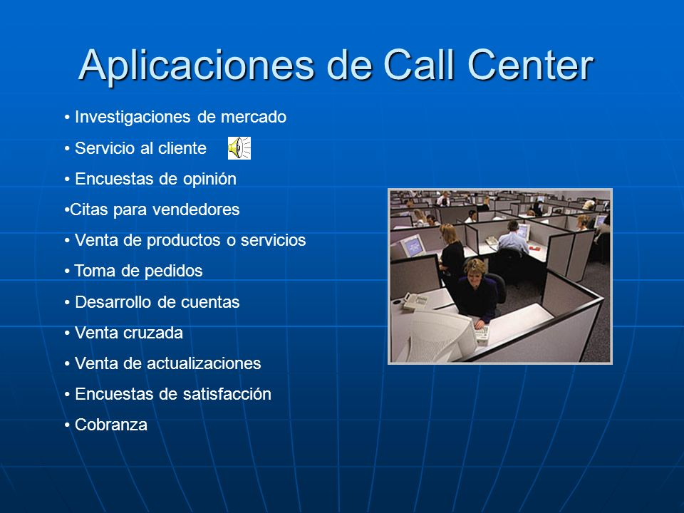 Aplicaciones de Call Center