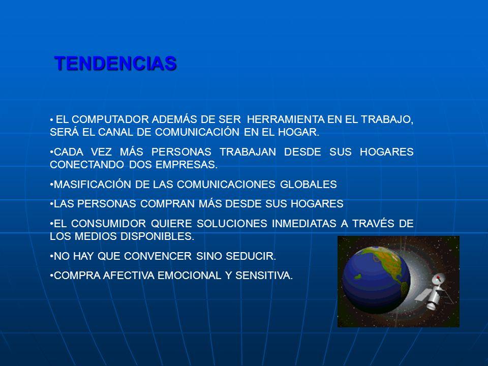 TENDENCIAS EL COMPUTADOR ADEMÁS DE SER HERRAMIENTA EN EL TRABAJO, SERÁ EL CANAL DE COMUNICACIÓN EN EL HOGAR.