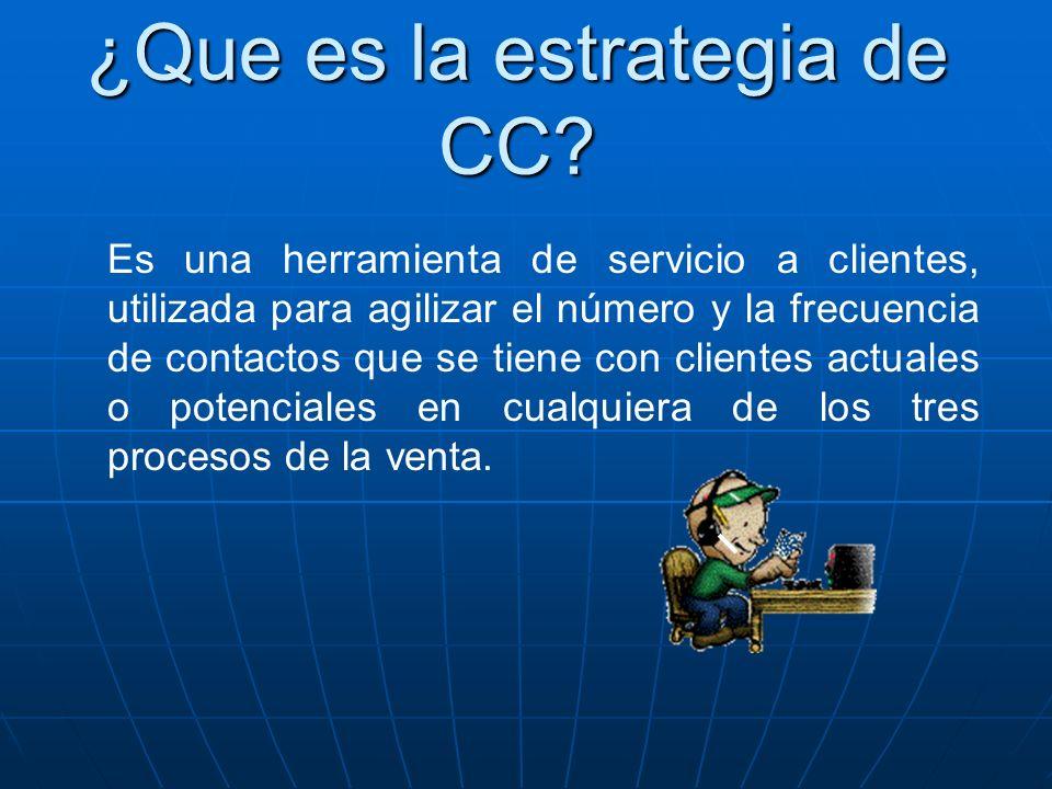 ¿Que es la estrategia de CC