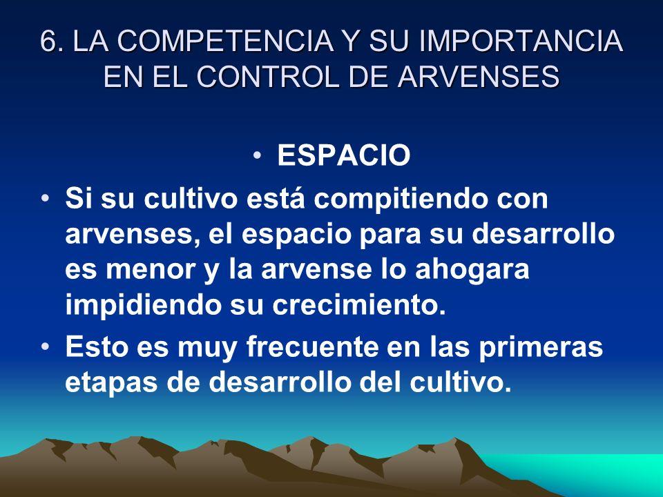 6. LA COMPETENCIA Y SU IMPORTANCIA EN EL CONTROL DE ARVENSES