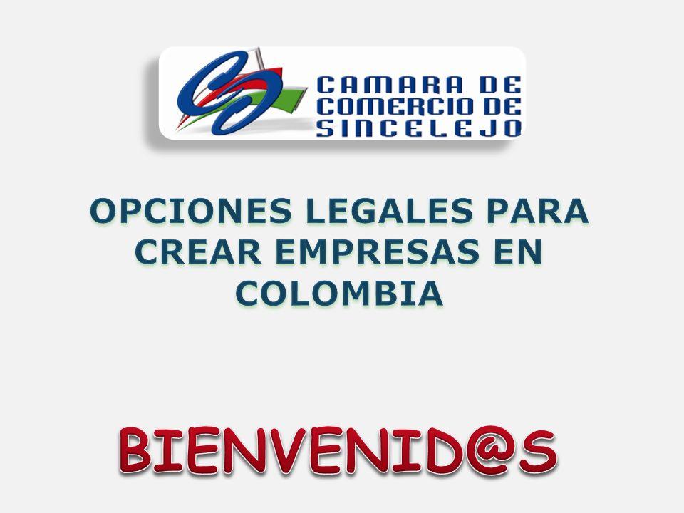OPCIONES LEGALES PARA CREAR EMPRESAS EN COLOMBIA