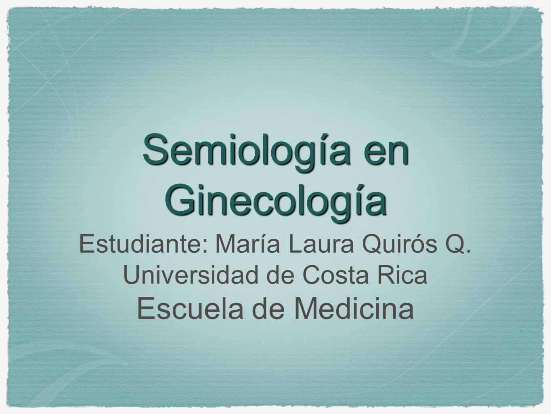 Semiología en Ginecología