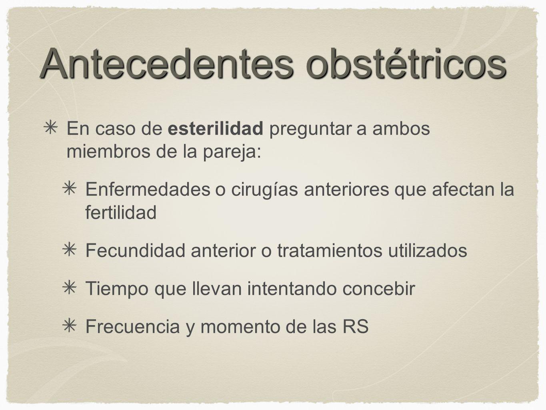 Antecedentes obstétricos